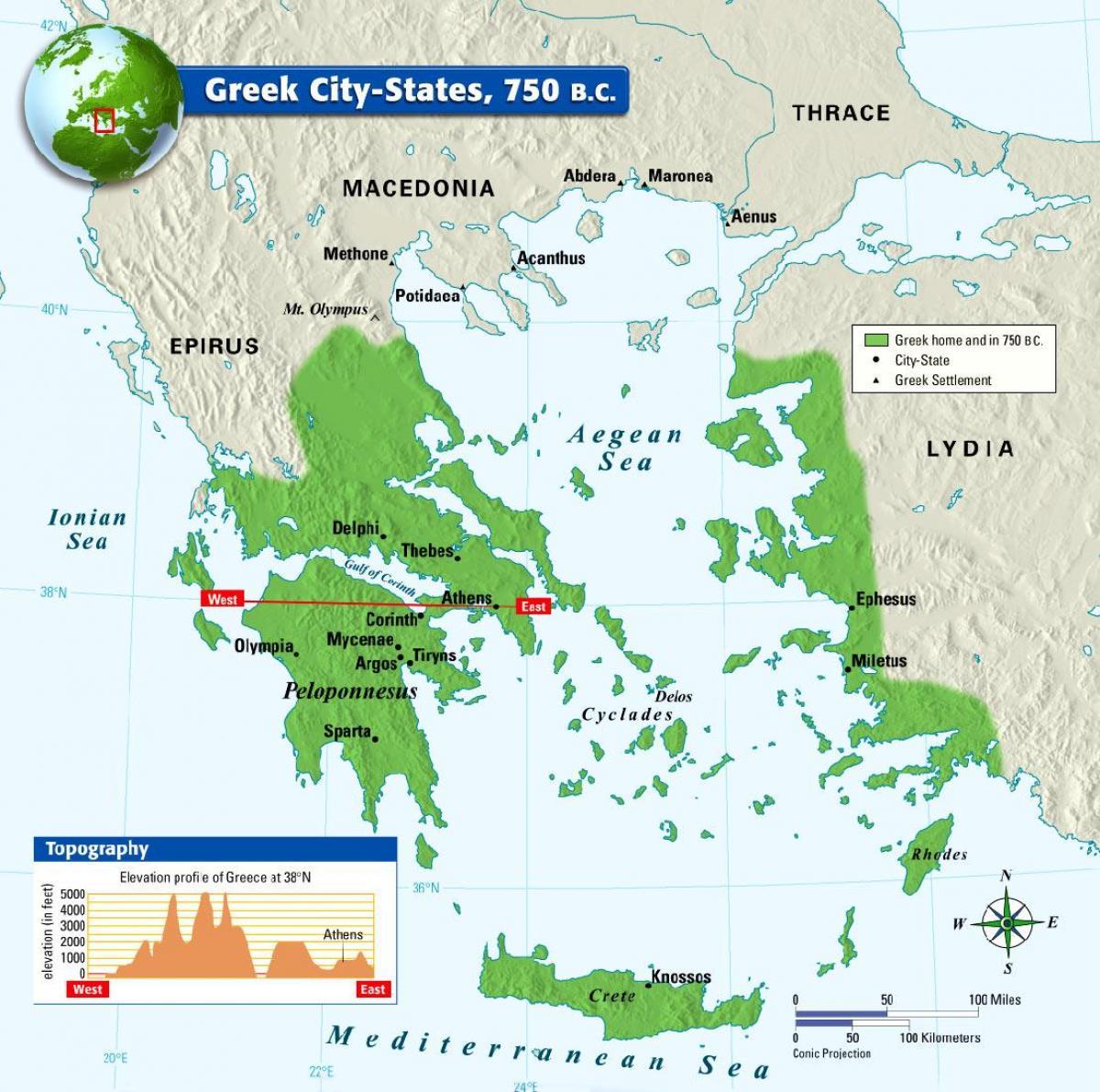 Cartina Della Grecia Antica In Italiano.Antica Citta Greca Di Stati Sulla Mappa Mappa Della Grecia Antica Citta Stato Europa Del Sud Europa