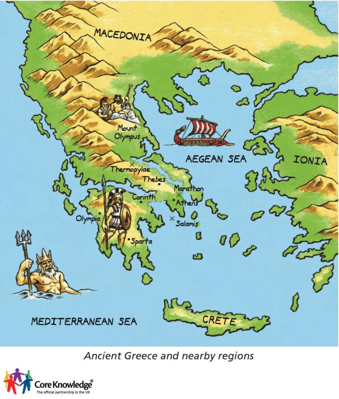 Cartina Della Grecia Antica In Italiano.Antica Grecia Mappa Per Bambini Mappa Della Grecia Antica Per Bambini Europa Del Sud Europa