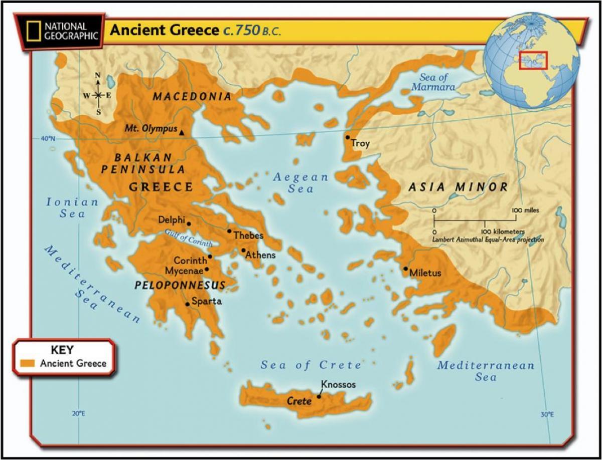 Cartina Geografica Europa Meridionale.Grecia Antica Geografia Cartina Mappa Geografica Della Grecia Antica Europa Del Sud Europa