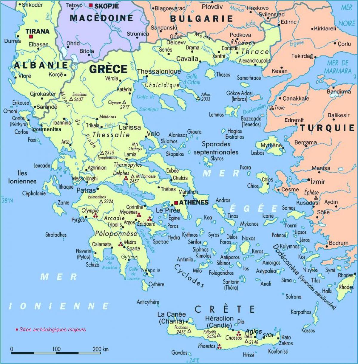 Cartina Della Grecia Con Isole.Grecia Isole Sulla Mappa Mappa Della Grecia Con Isole Europa Del Sud Europa