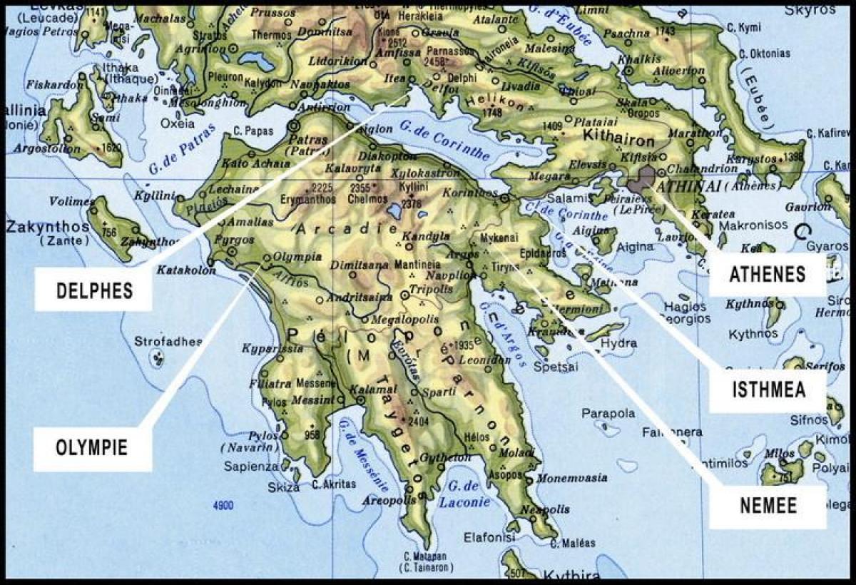 Europa Meridionale Cartina.Sud Della Grecia Mappa Mappa Della Grecia Meridionale Sud Europa Europa