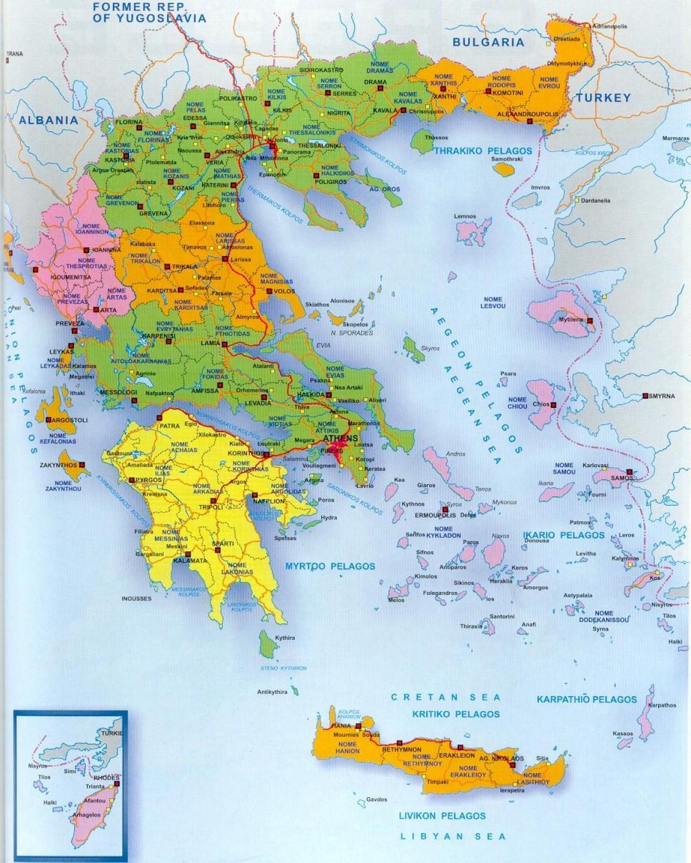 Cartina Della Grecia E Isole In Italiano.Isole Greche Sulla Mappa Mappa Della Grecia E Isole Greche Europa Del Sud Europa